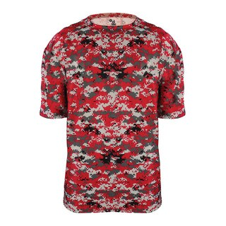 Youth Red Polyester Digital T-shirt