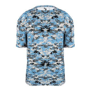 Digital Youth Men's Columbia Blue Cotton T-Shirt