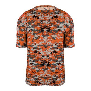 Youth's Digital Camoflauge Burnt Orange T-Shirt