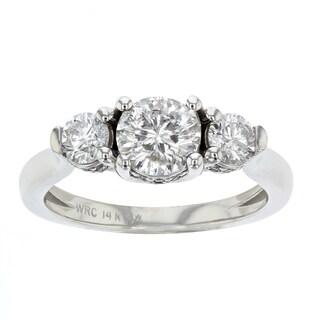 Women's 14k White Gold Three Stone Diamond Ring
