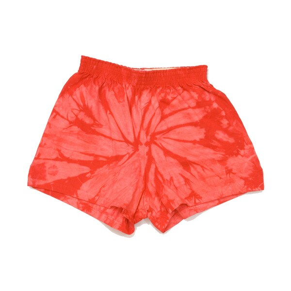H4000b Youth Red Spider Tie Dye Cotton 3 Inch Shorts
