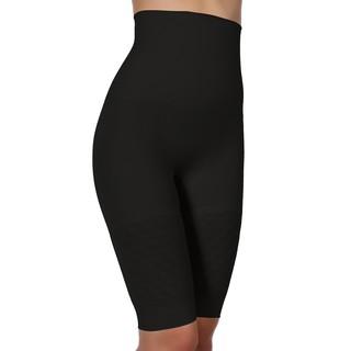 Pierre Cardin Women's Black/White Spandex/Polyamide Seamless Silhouette Thigh Slimming Shapewear