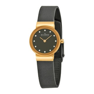 Skagen Women's 358XSRM Grey Stainless Steel Quartz Watch With Grey Dial