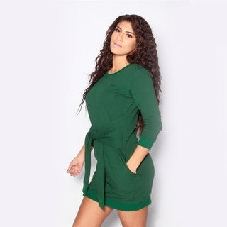 We Are Pop Culture Whip Forest Green Sweater Dress