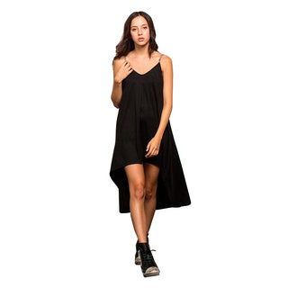 Honey Comfy's High Low Slip Dress With Embellished Straps