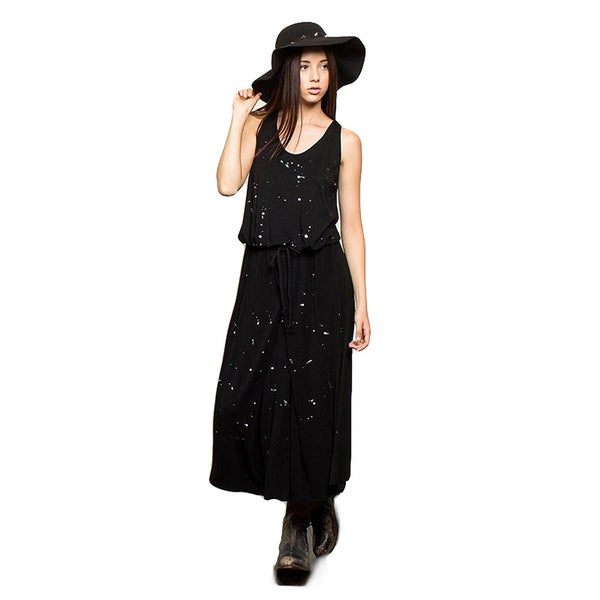 4ff136758581c2 Shop Kate Marie s Womens  Black Cotton Sleeveless Maxi Dress - Free ...