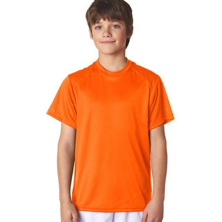 B-Core Boys' Performance Safety Orange Polyester T-shirt
