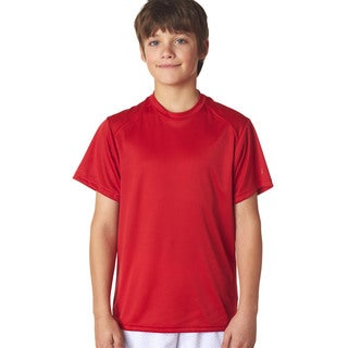 B-Core Youth Red Polyester Performance T-shirt