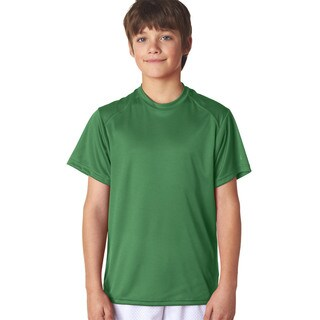 B-Core Boys' Kelly Green Polyester Performance T-shirt