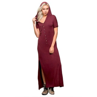 Honey Comfy's Women's Cotton Hooded Maxi Dress