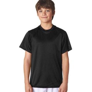 B-Core Boys' Black Cotton Performance T-Shirt