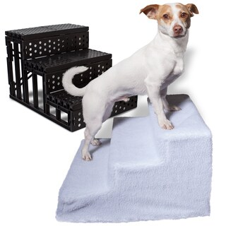 Oxgord Portable Pet Stairs with Removable Fleece Cover