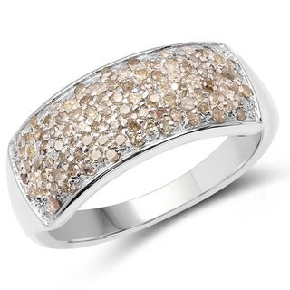 Malaika 0.42 Carat Genuine Diamond .925 Sterling Silver Ring