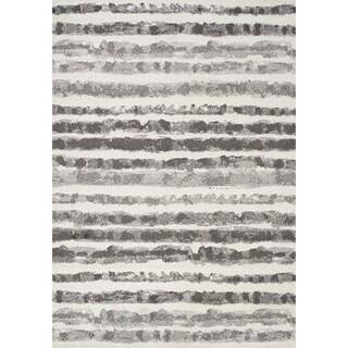 Ferris Grey Marker Stripes Rug (5'3 x 7'7)