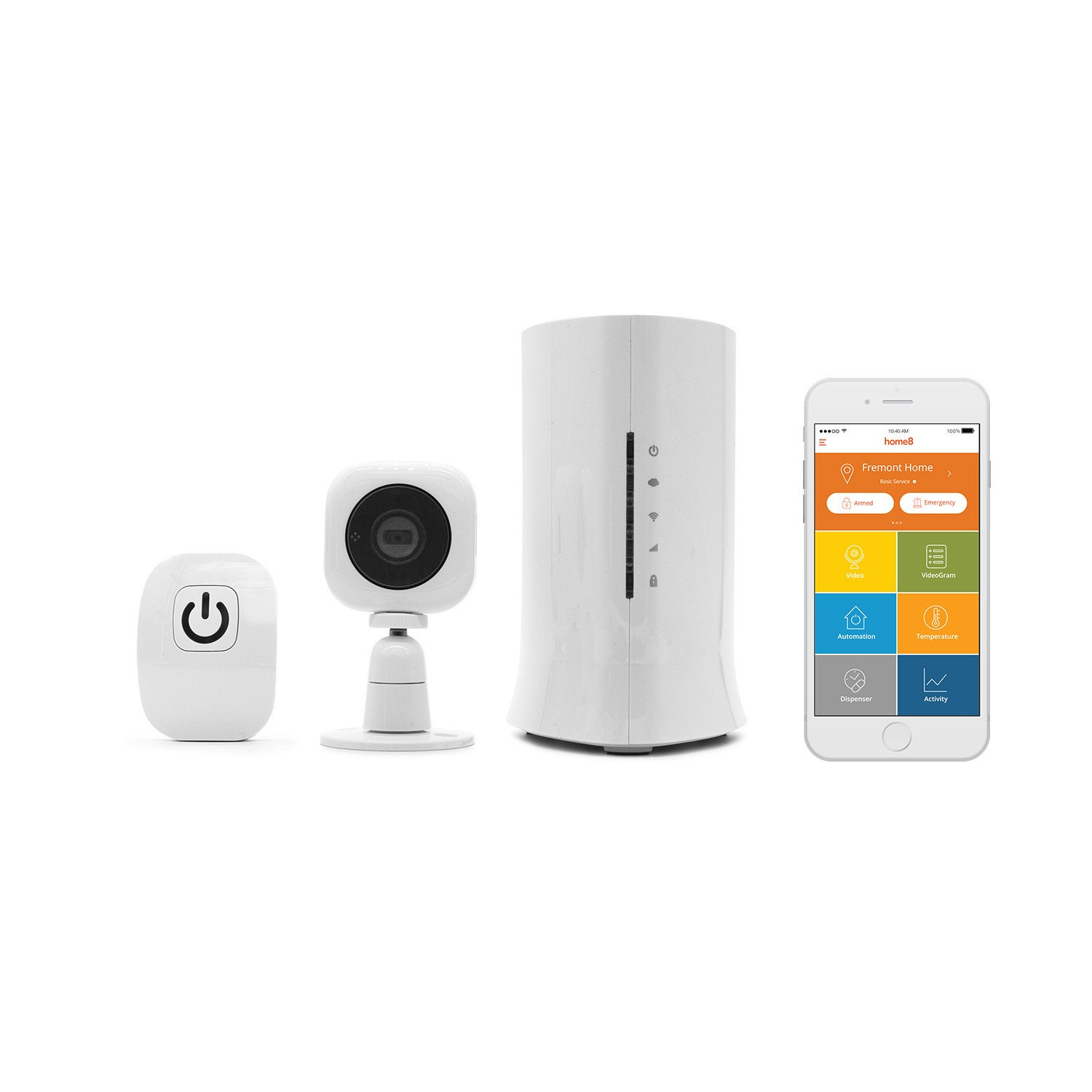 Home8 Video-Verified Smart Garage Open/Close Ultra-Secure Smartphone Compatible Starter Kit with Amazon Alexa Integration