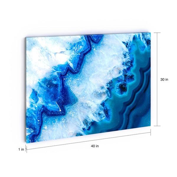 Porch Den Geode Slice Macro Abstract Digital Art Canvas Print Overstock 18604294