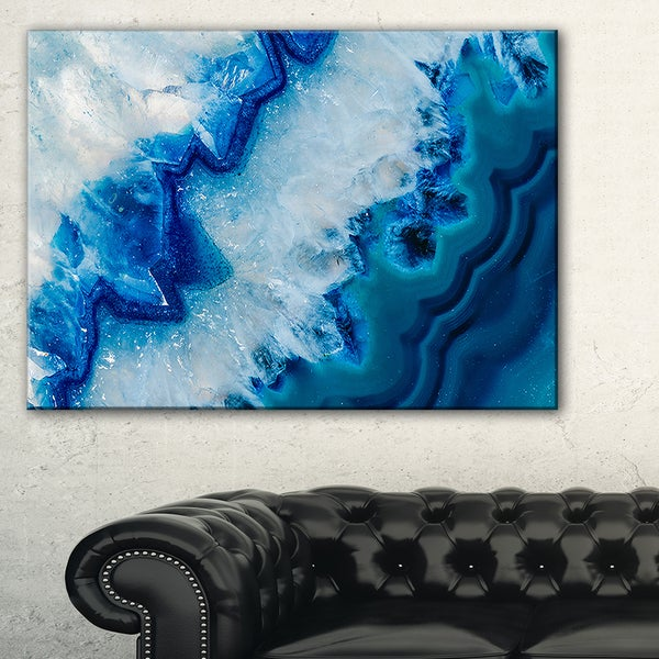 Blue Geode Painting