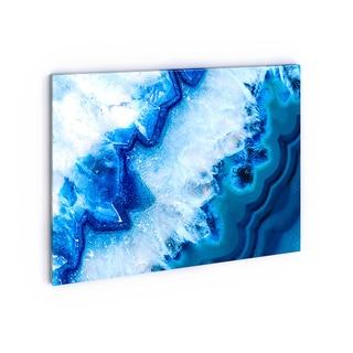 Geode Slice Macro - Abstract Digital Art Canvas Print