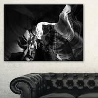 Black and White Antelope Canyon - Landscape Photo Canvas Print