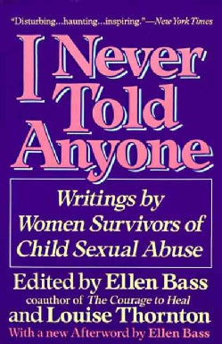 I Never Told Anyone: Writings by Women Survivors of Child Sexual Abuse (Paperback)