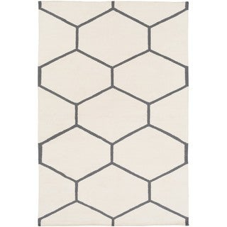 Hand Woven Narragansett Cotton Area Rug (Ivory - 9 x 13)