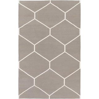 Hand Woven Narragansett Cotton Area Rug (9 x 13 - Taupe)