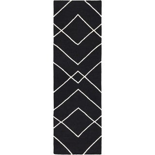 Hand Woven Natchez Cotton Area Rug (2'6 x 8') (Option: Yellow/Ivory)