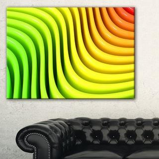Rainbow Colors Wave - Abstract 3D Digital Art Canvas Print
