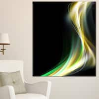 Green Yellow Light Art - Abstract Digital Art Canvas Print