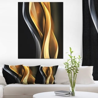 Brown White Light Art - Abstract Digital Art Canvas Print - Brown/White