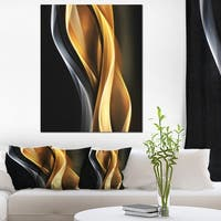Brown White Light Art - Abstract Digital Art Canvas Print
