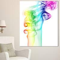 Wave Light Art - Abstract Digital Art Canvas Print