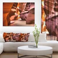 Bright Antelope Canyon - Landscape Photo Canvas Art Print - YELLOW