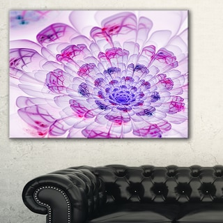 Large Purple Fractal Flower Petals - Floral Digital Art Canvas Print