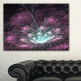Purple Fractal Flower - Floral Digital Art Canvas Art Print
