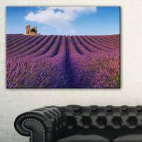 Purple Lavender Field - Landscape Photography Canvas Print