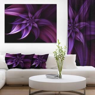 Fractal Flower Purple - Floral Digital Art Canvas Print