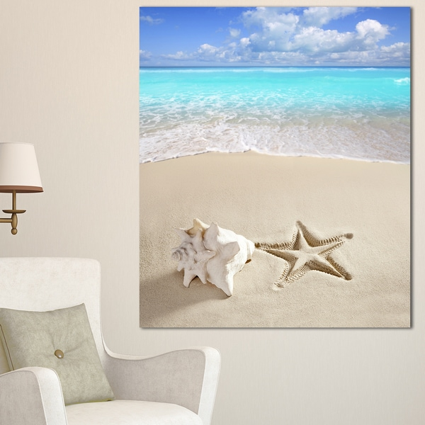 Caribbean Beach Starfish - Beach Photography Canvas Art Print