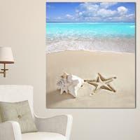 Caribbean Beach Starfish - Beach Photography Canvas Art Print