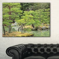 Japanese Garden in Early Autumn - Landscape Photo Canvas Print - Green