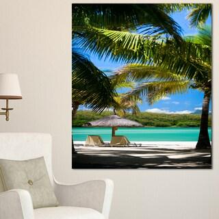 Tropical Paradise - Beach and Shore Photo Canvas Art Print