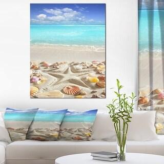 Caribbean Sea Starfish - Beach and Shore Canvas Art Print