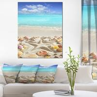Caribbean Sea Starfish - Beach and Shore Canvas Art Print