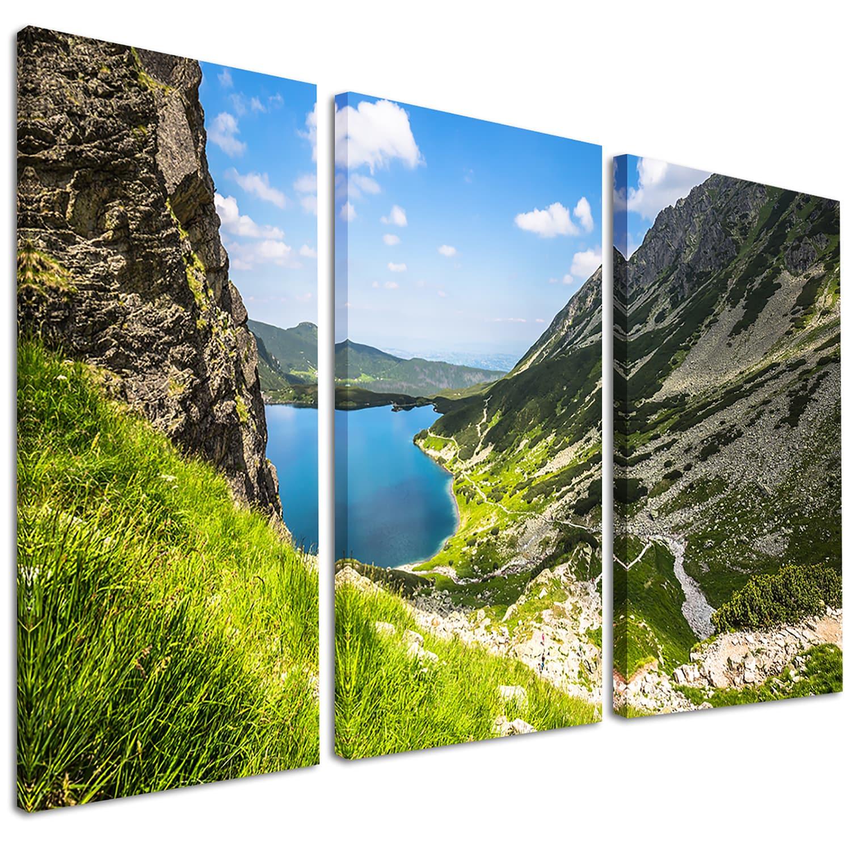 Black Pond Gasienicowy Landscape Photo Canvas Art Print Green Overstock 12126204