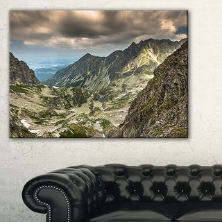 Tatra Mountains from Hiking Trail - Landscape Photo Canvas Art Print