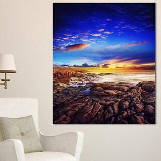 Sunset Over the Ocean - Seascape Photography Canvas Art Print