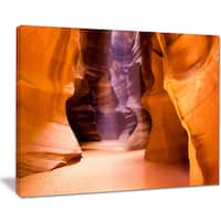 Upper Antelope Canyon - Landscape Photo Canvas Art Print - YELLOW
