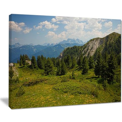 Amazing Visitor Mountains - Landscape Photo Canvas Art Print - Green