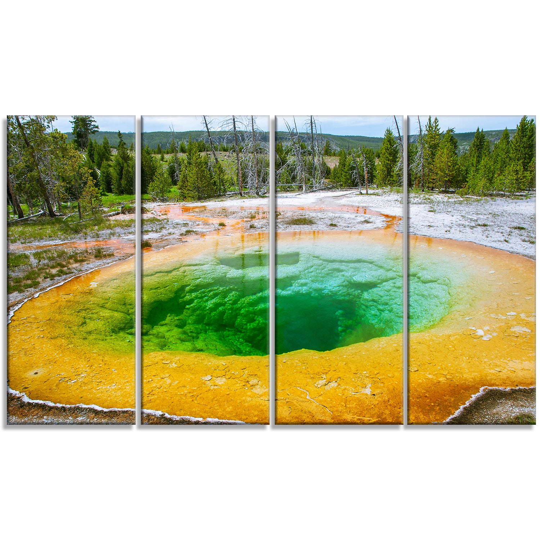 Bright Morning Glory Pool Landscape Photo Canvas Art Print Green Overstock 12126645