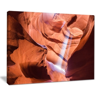 Light to Antelope Canyon - Landscape Photo Canvas Print